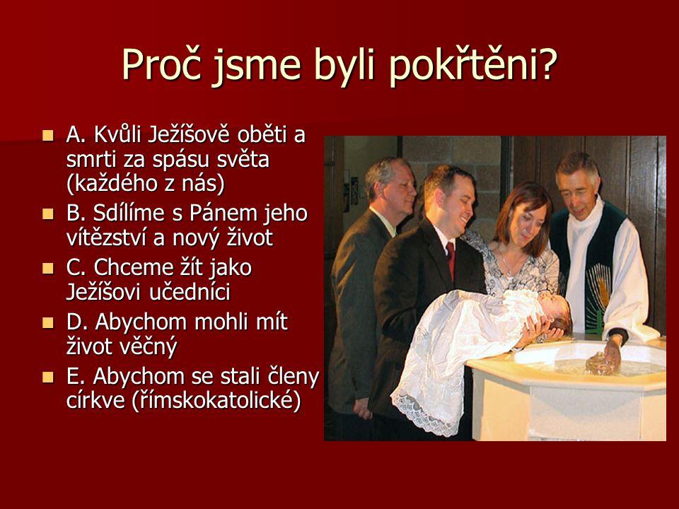 Proč jsme byli pokřtěni