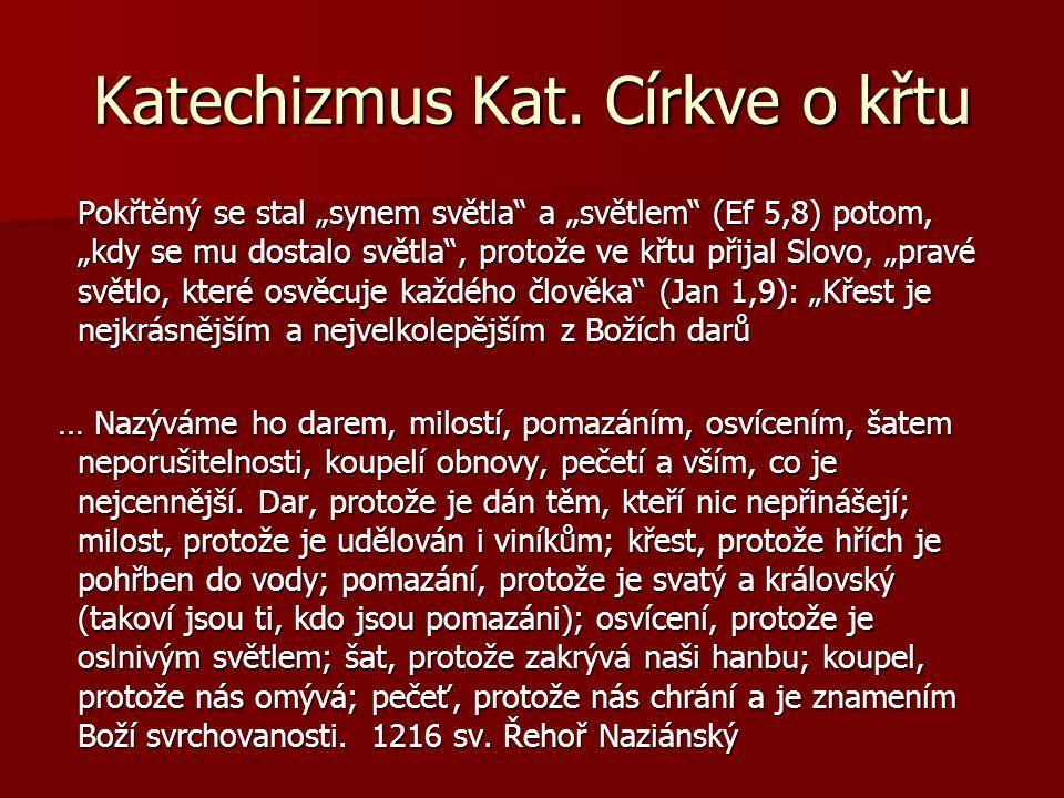 Katechizmus Kat. Církve o křtu