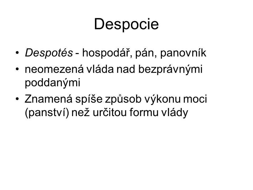 Despocie Despotés - hospodář, pán, panovník