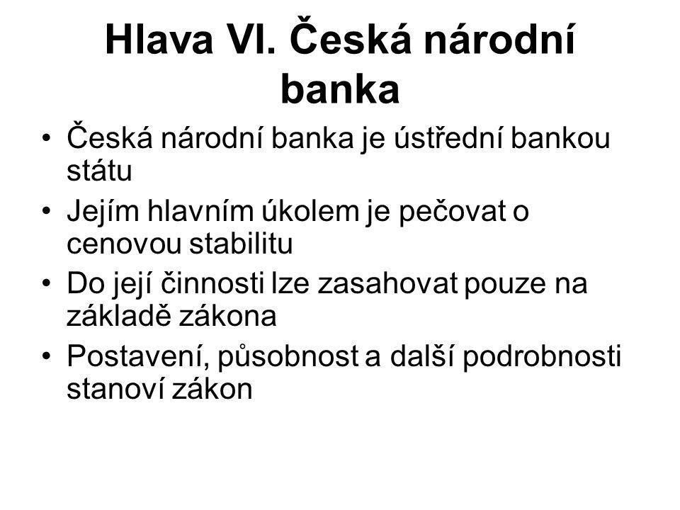 Hlava VI. Česká národní banka