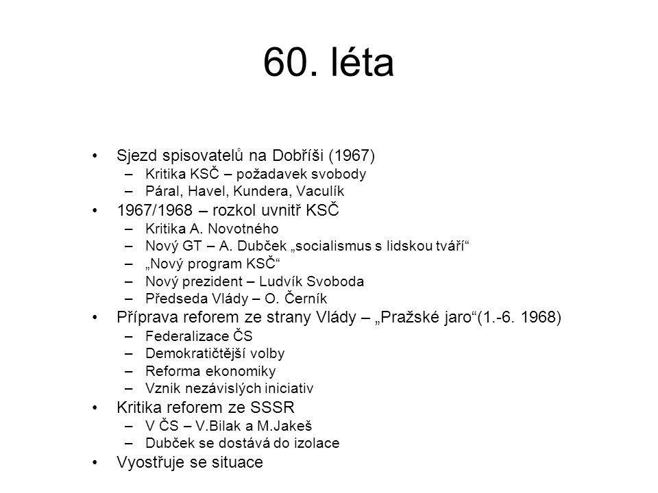 60. léta Sjezd spisovatelů na Dobříši (1967)