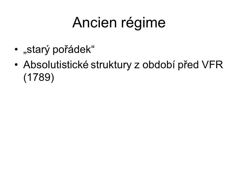 """Ancien régime """"starý pořádek"""