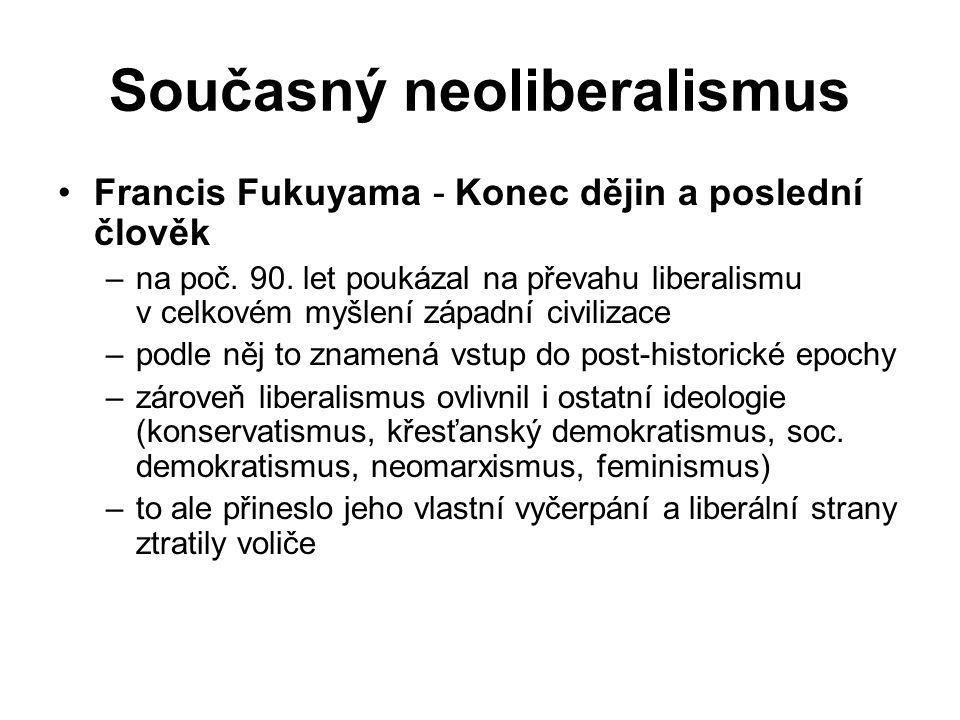 Současný neoliberalismus