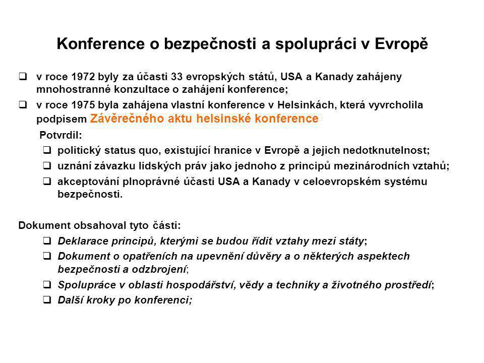 Konference o bezpečnosti a spolupráci v Evropě