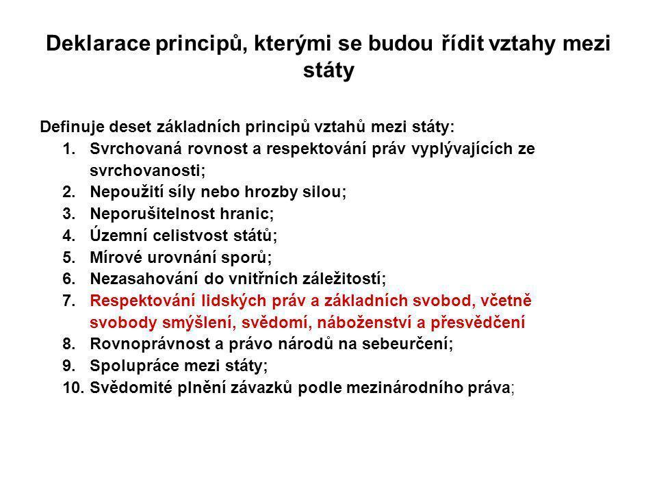 Deklarace principů, kterými se budou řídit vztahy mezi státy
