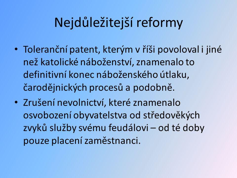 Nejdůležitejší reformy