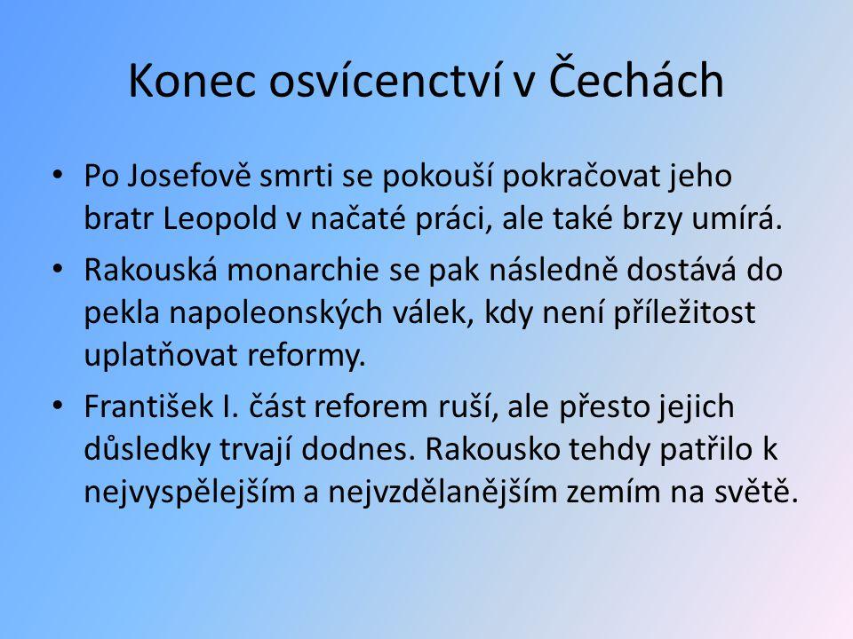 Konec osvícenctví v Čechách