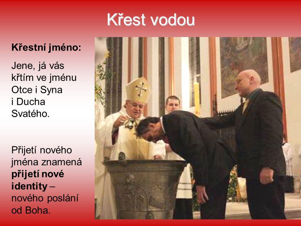 Křest vodou Křestní jméno: