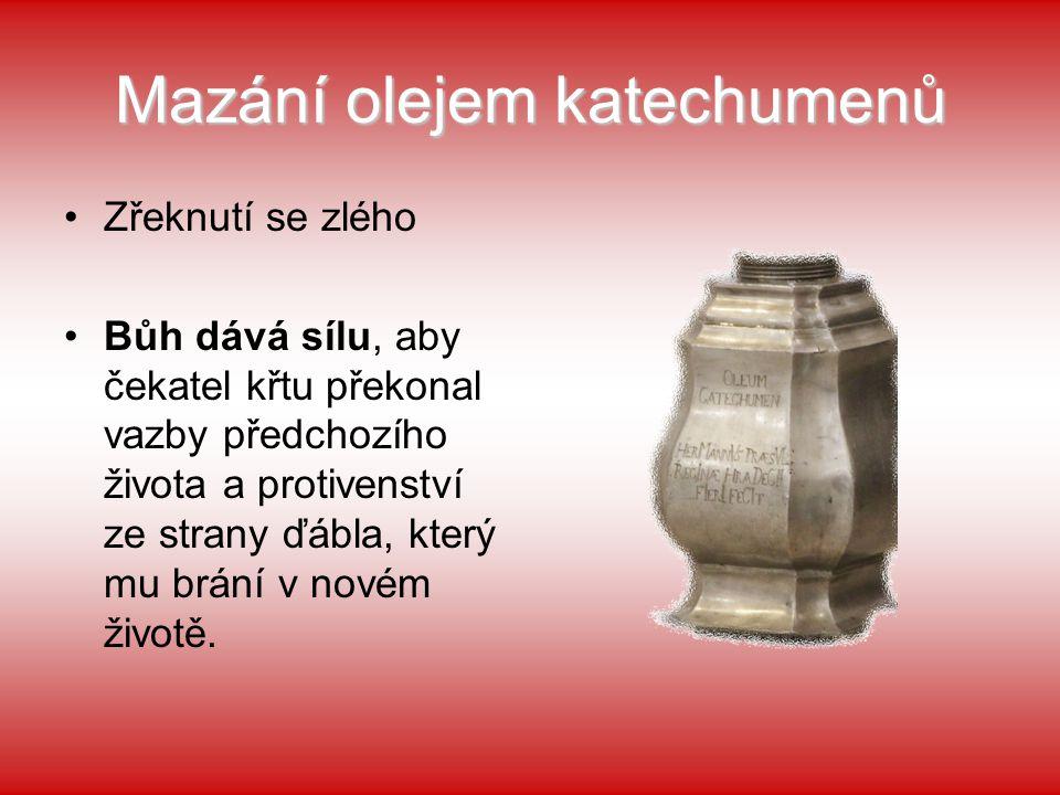 Mazání olejem katechumenů