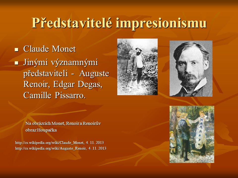Představitelé impresionismu
