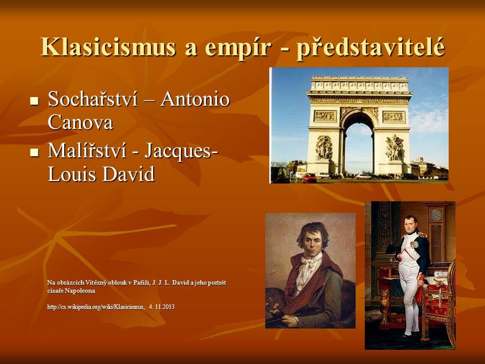 Klasicismus a empír - představitelé