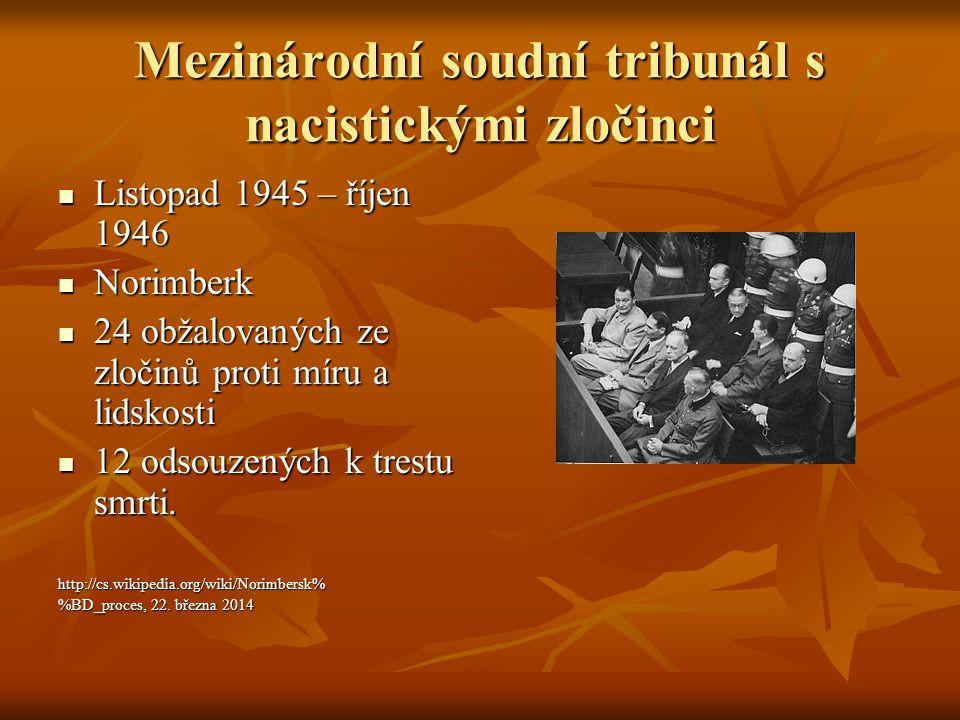 Mezinárodní soudní tribunál s nacistickými zločinci