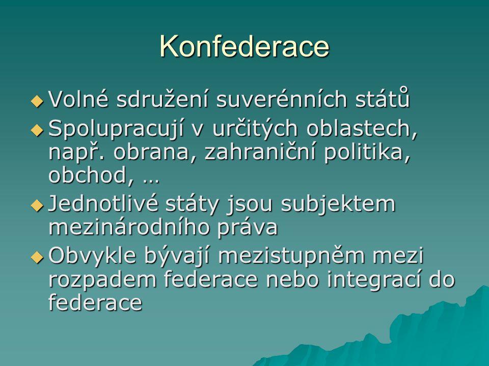 Konfederace Volné sdružení suverénních států