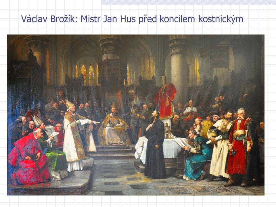 Václav Brožík: Mistr Jan Hus před koncilem kostnickým