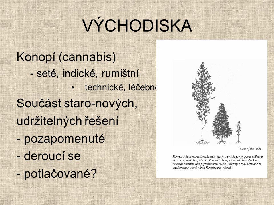 VÝCHODISKA Konopí (cannabis) Součást staro-nových, udržitelných řešení