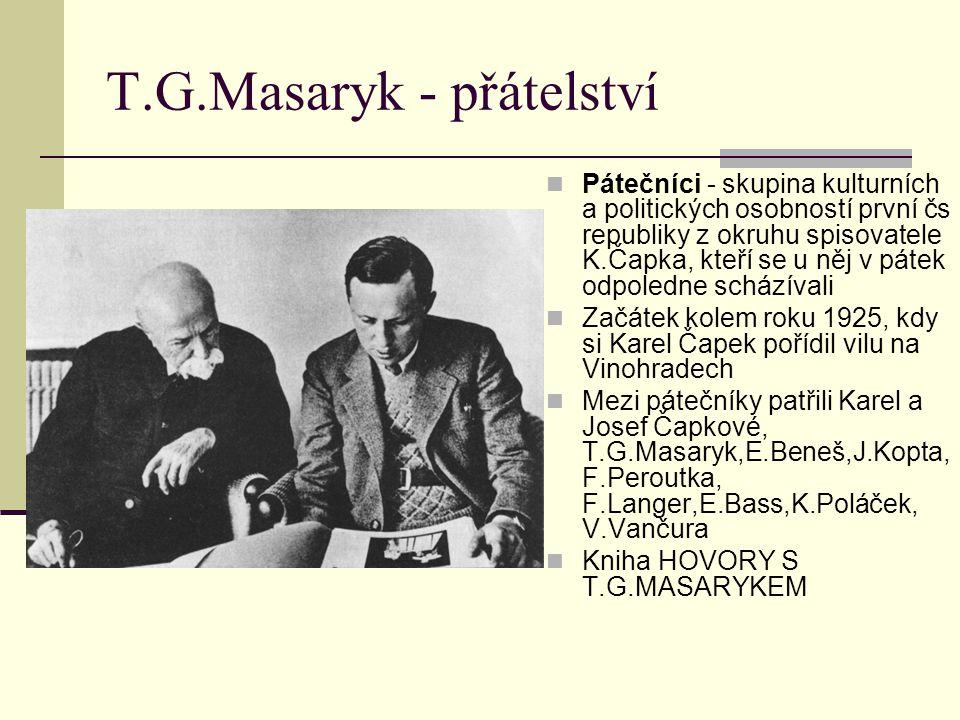 T.G.Masaryk - přátelství