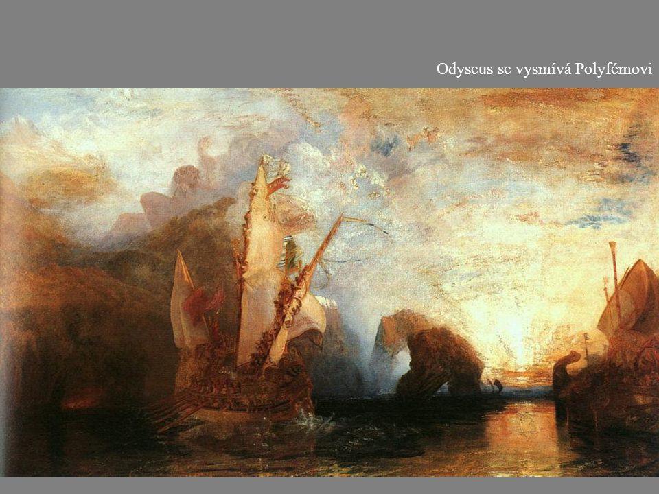 Odyseus se vysmívá Polyfémovi