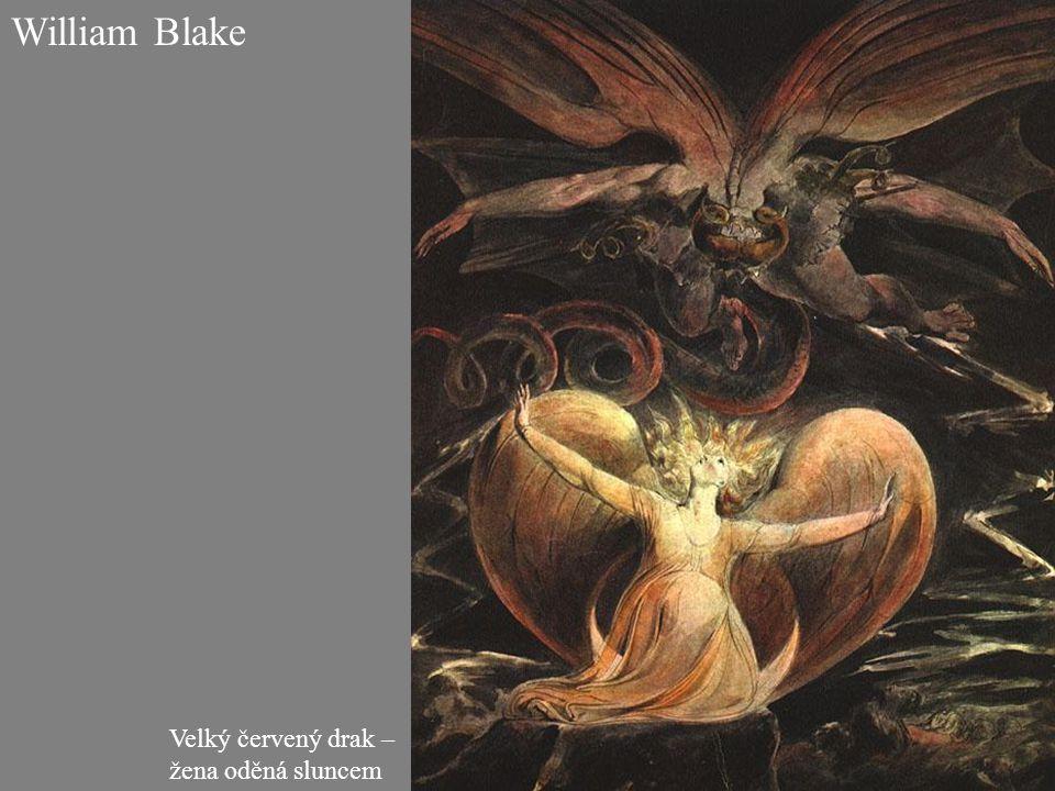 William Blake Velký červený drak – žena oděná sluncem