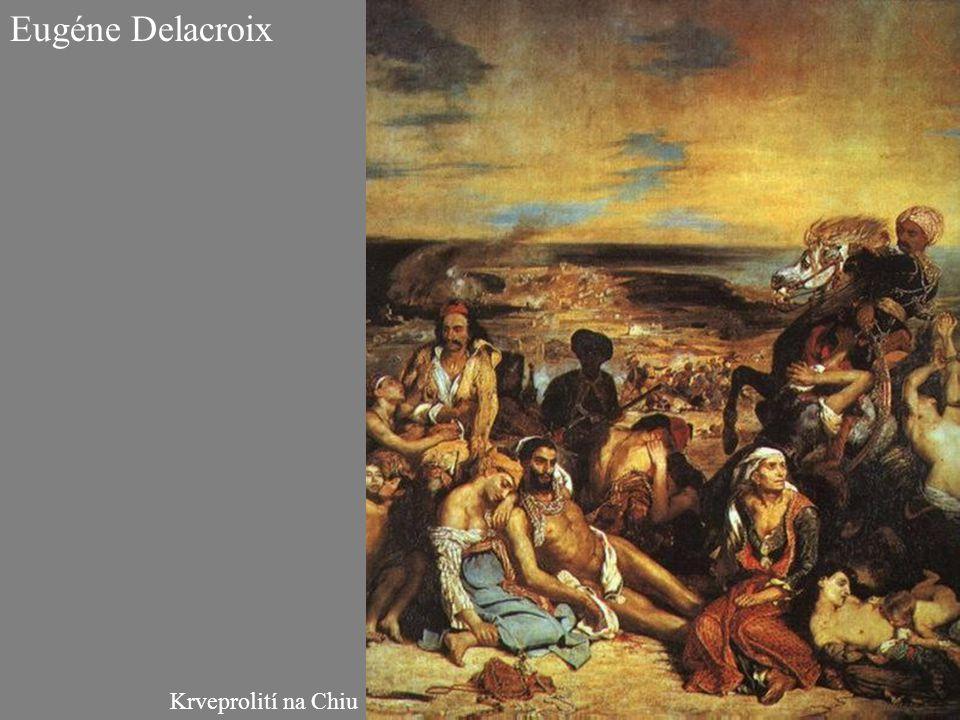 Eugéne Delacroix Krveprolití na Chiu