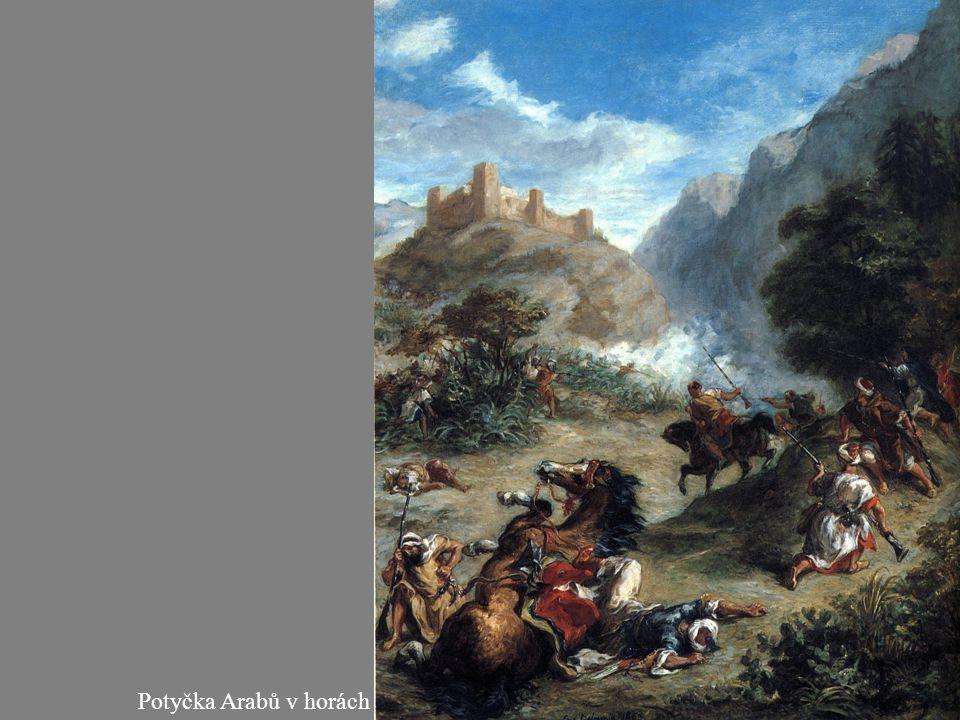 Potyčka Arabů v horách