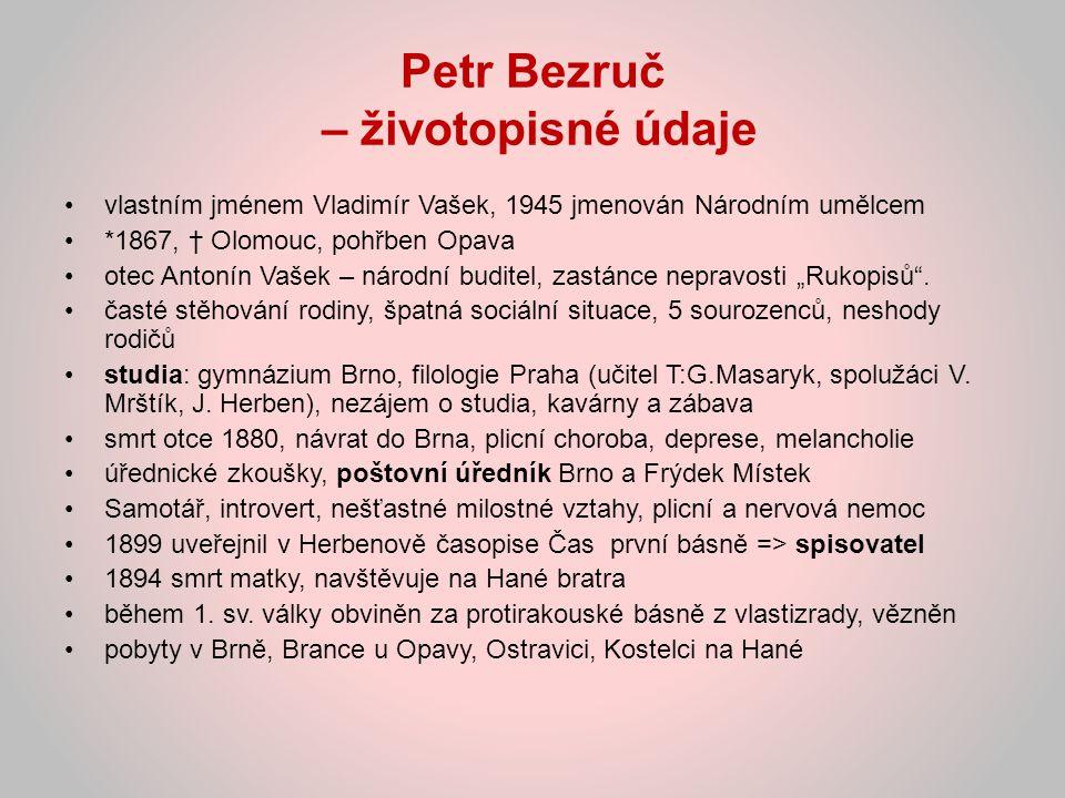 Petr Bezruč – životopisné údaje
