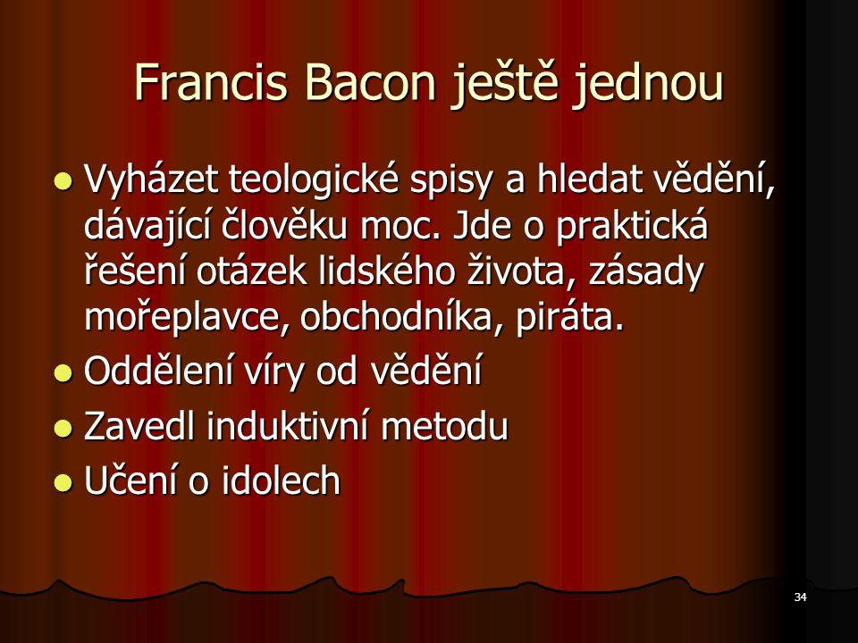 Francis Bacon ještě jednou
