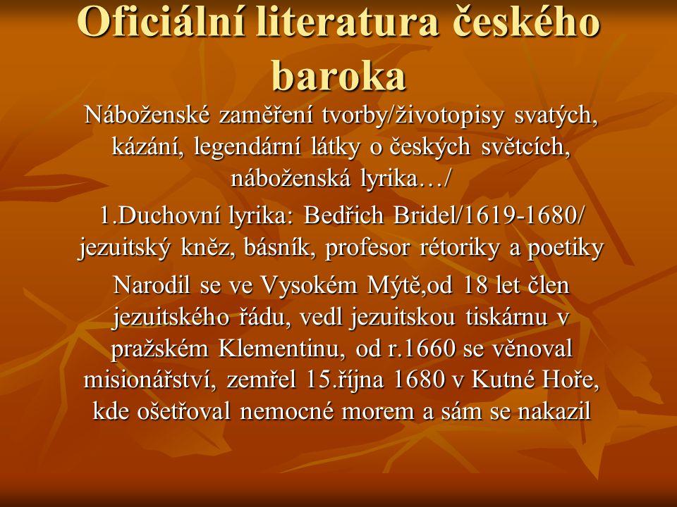 Oficiální literatura českého baroka