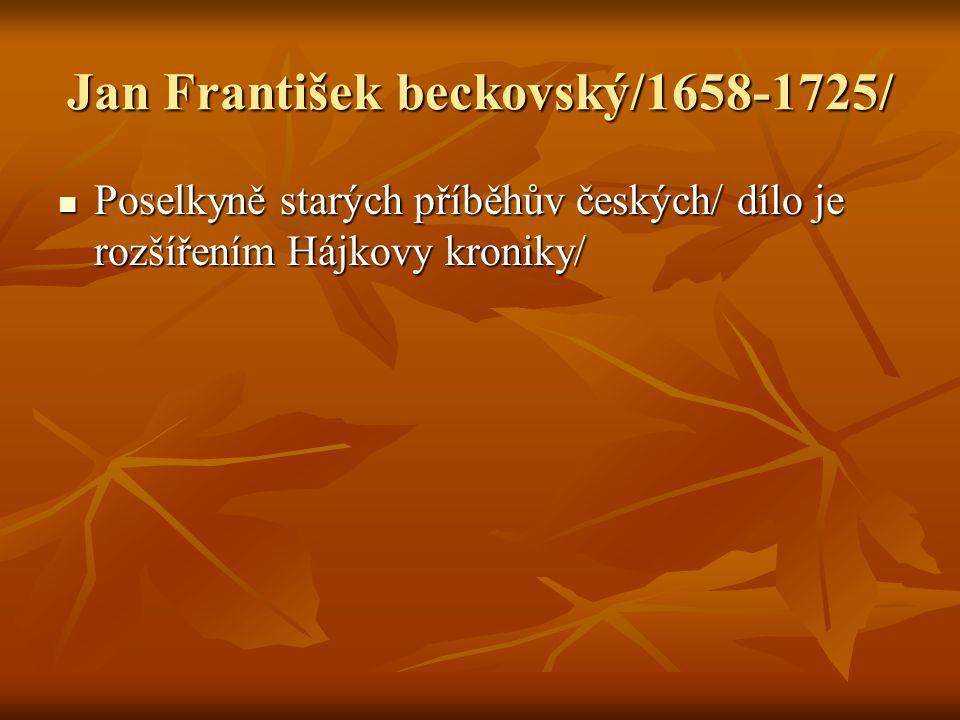 Jan František beckovský/1658-1725/