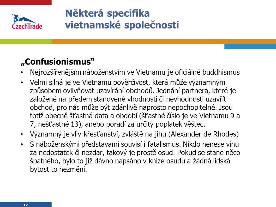 Některá specifika vietnamské společnosti