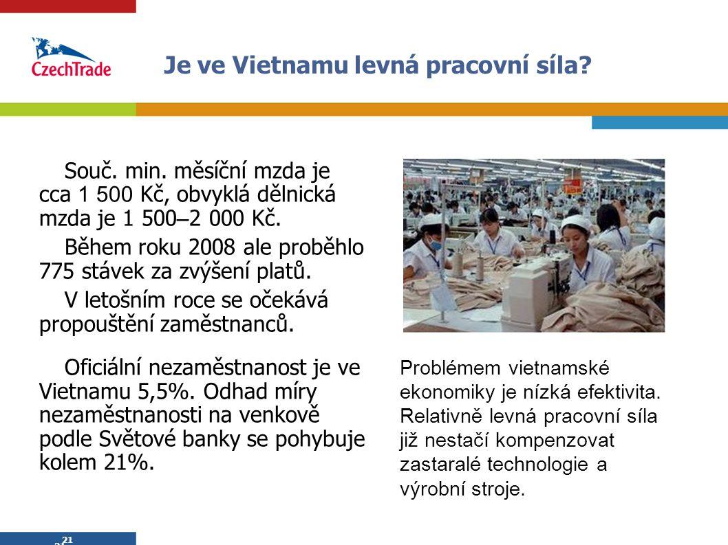 Je ve Vietnamu levná pracovní síla