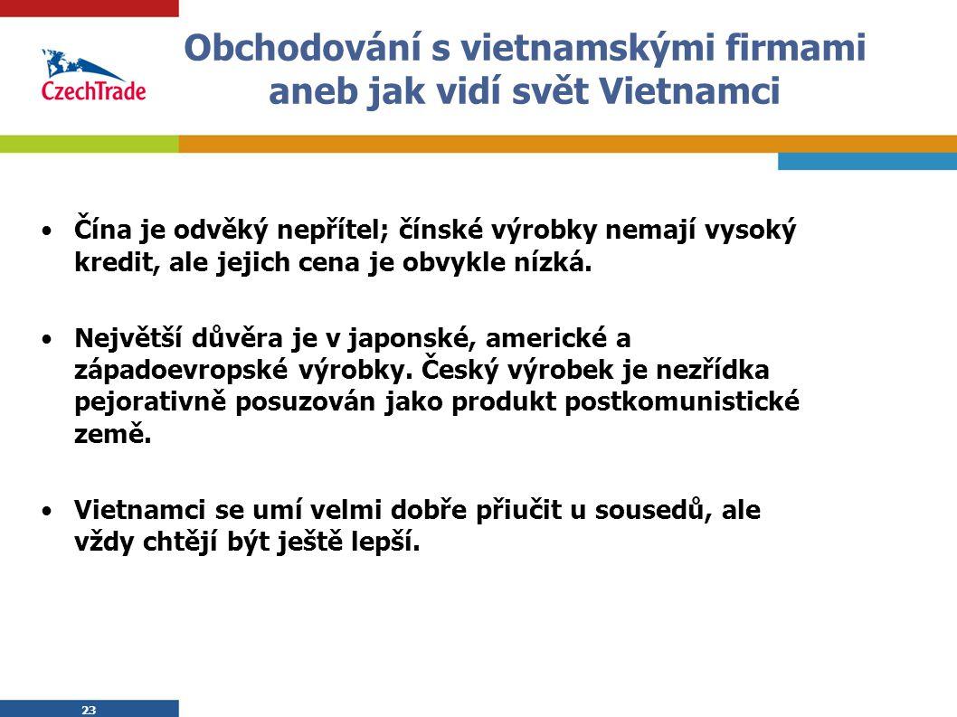 Obchodování s vietnamskými firmami aneb jak vidí svět Vietnamci
