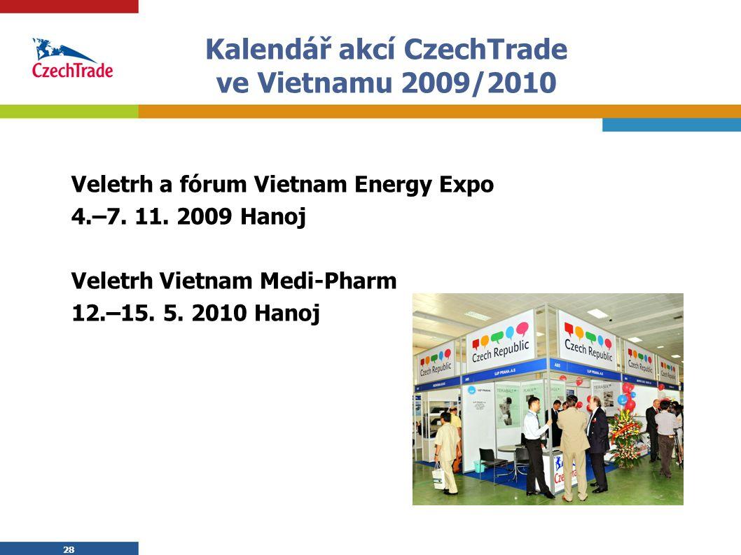 Kalendář akcí CzechTrade ve Vietnamu 2009/2010