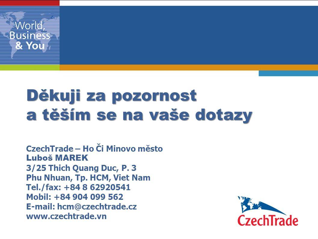 Děkuji za pozornost a těším se na vaše dotazy CzechTrade – Ho Či Minovo město Luboš MAREK 3/25 Thich Quang Duc, P.