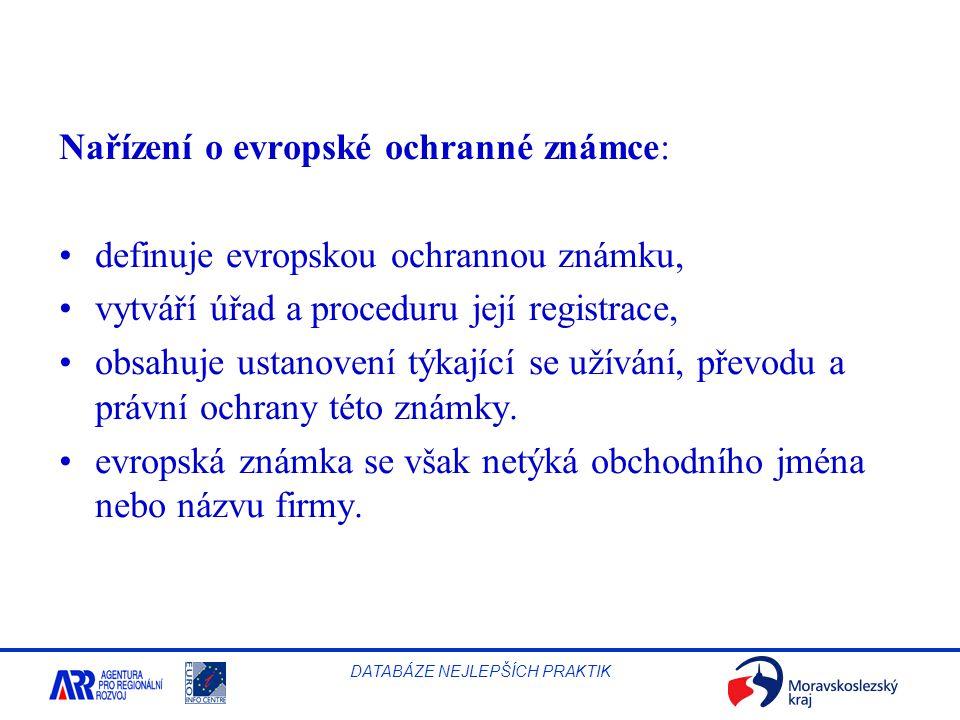 Nařízení o evropské ochranné známce: