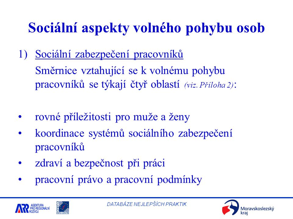 Sociální aspekty volného pohybu osob