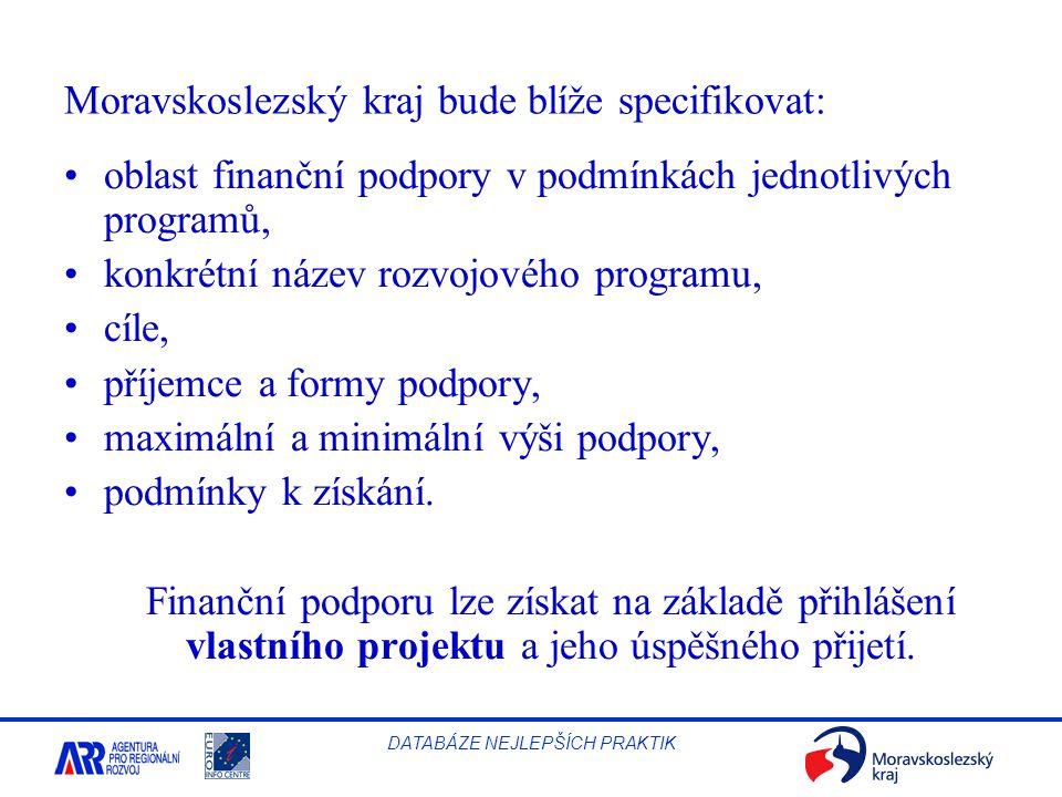 Moravskoslezský kraj bude blíže specifikovat: