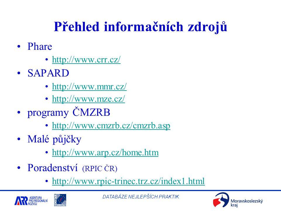 Přehled informačních zdrojů