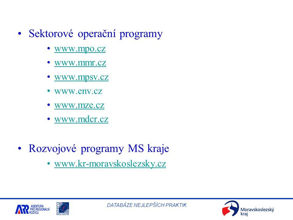 Sektorové operační programy