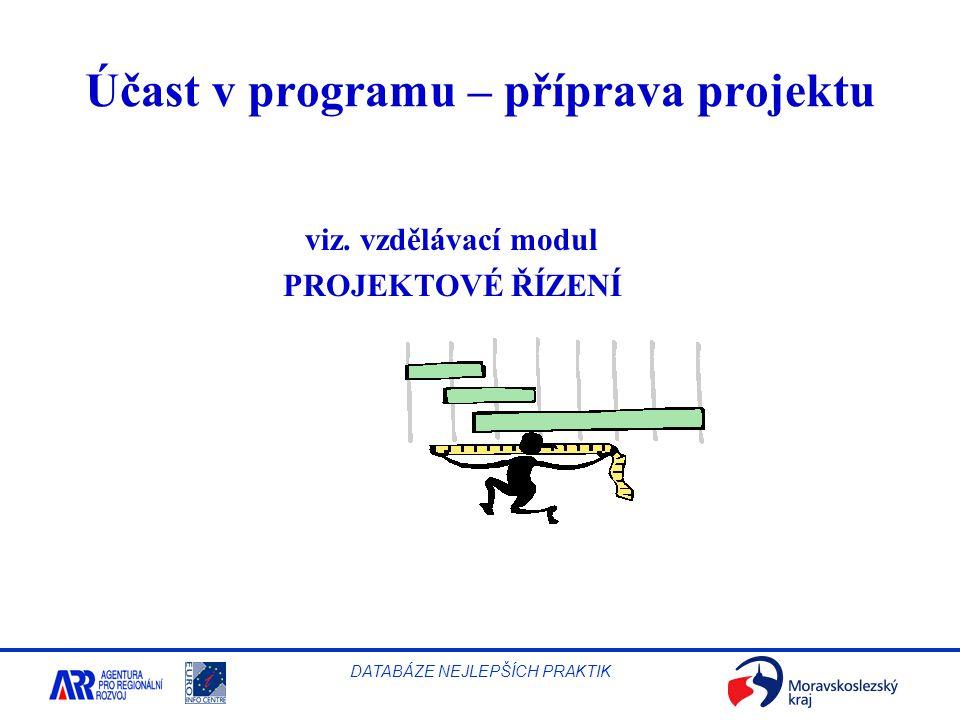 Účast v programu – příprava projektu