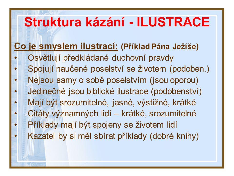 Struktura kázání - ILUSTRACE
