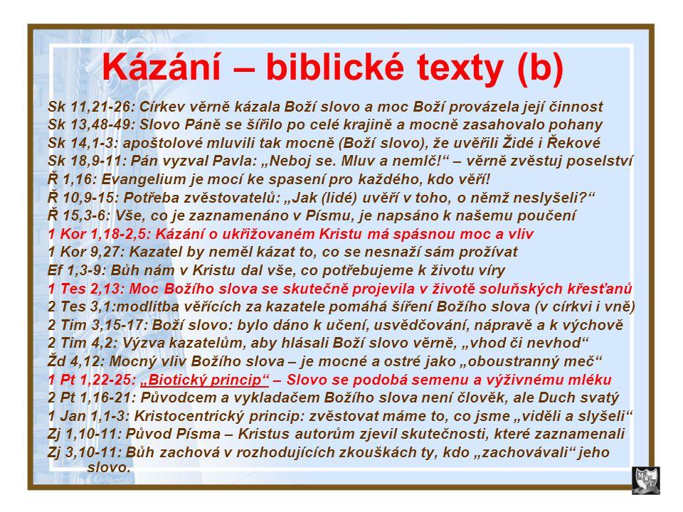 Kázání – biblické texty (b)