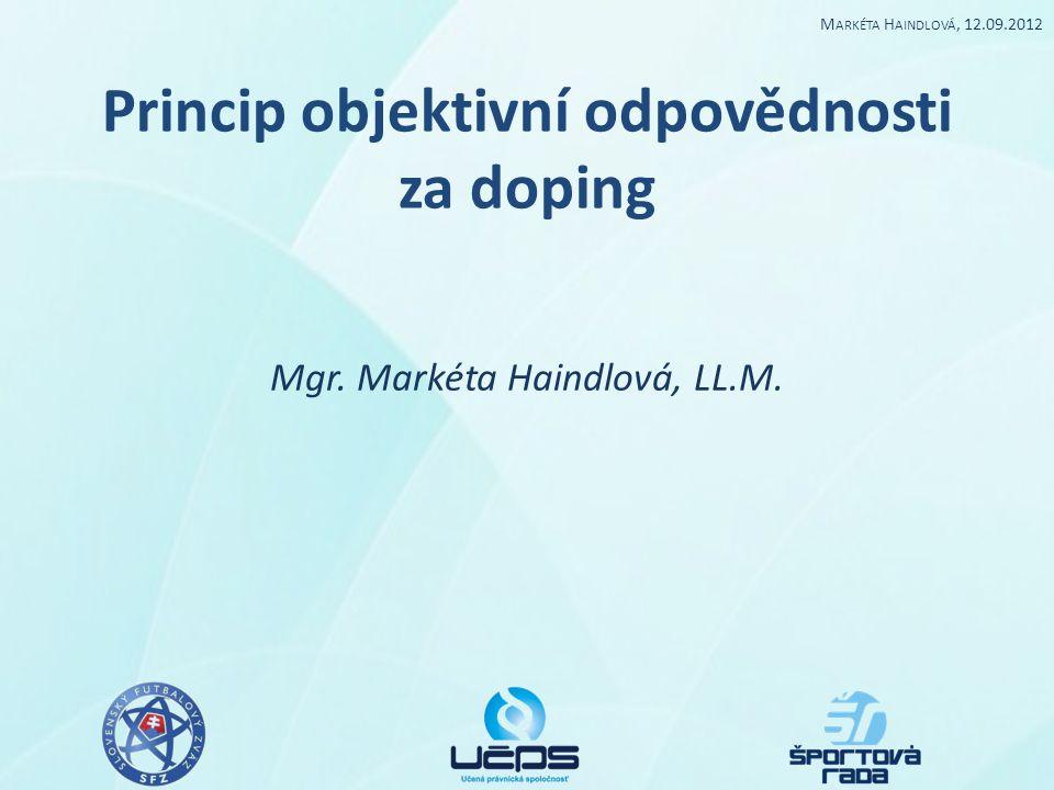 Princip objektivní odpovědnosti za doping