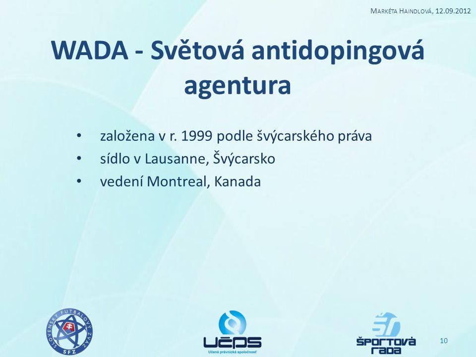 WADA - Světová antidopingová agentura