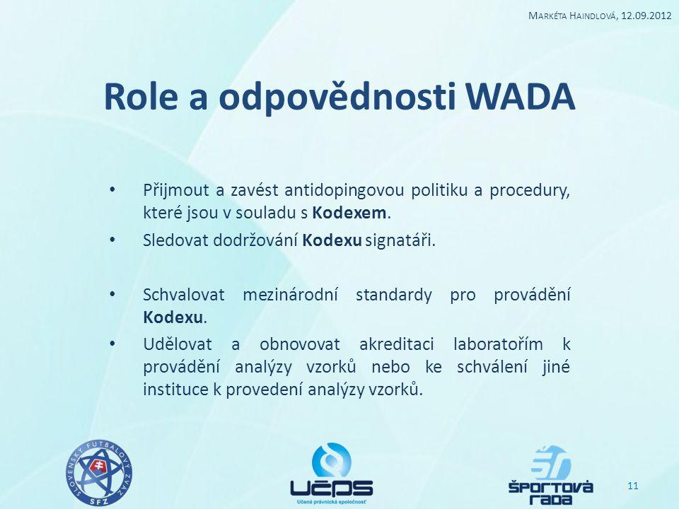 Role a odpovědnosti WADA