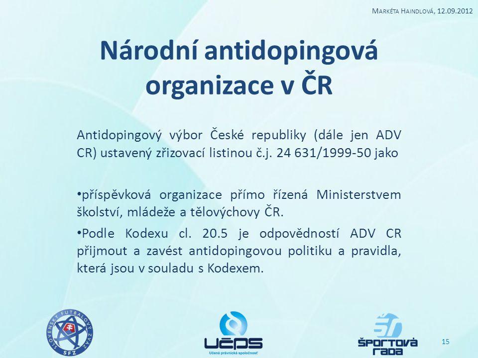 Národní antidopingová organizace v ČR