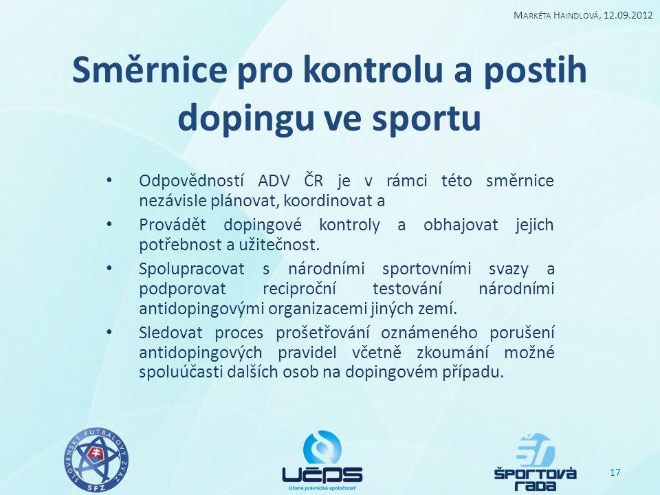 Směrnice pro kontrolu a postih dopingu ve sportu