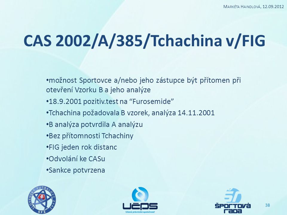 CAS 2002/A/385/Tchachina v/FIG