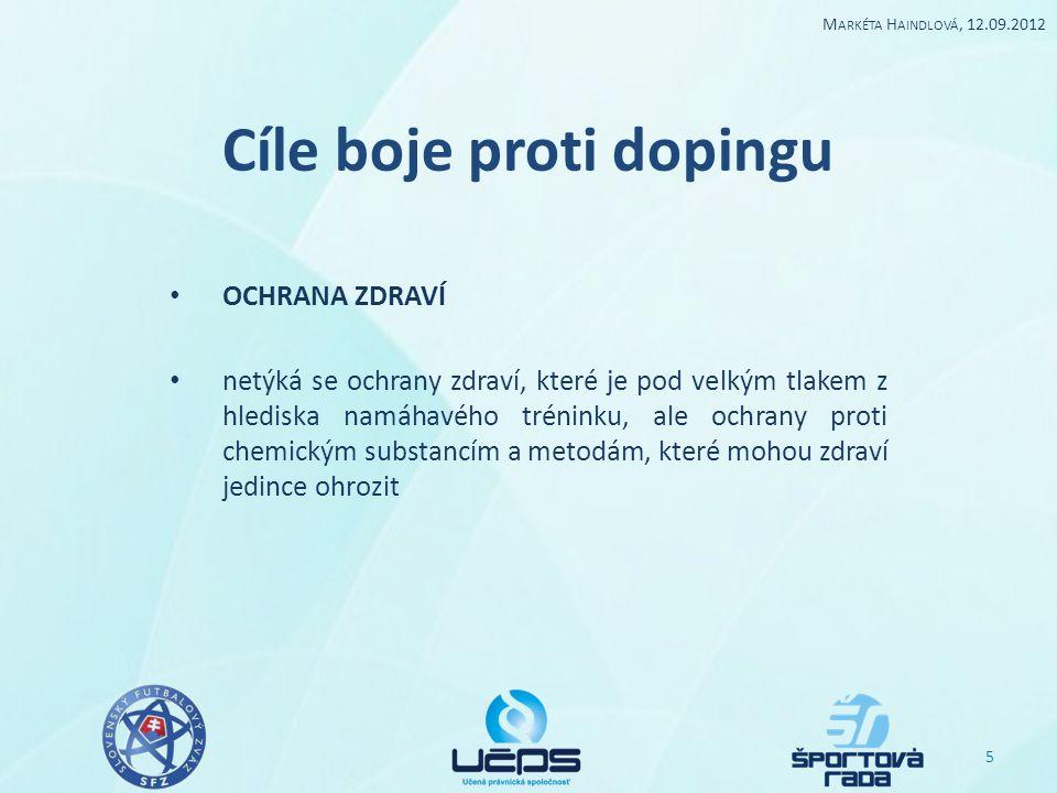 Cíle boje proti dopingu