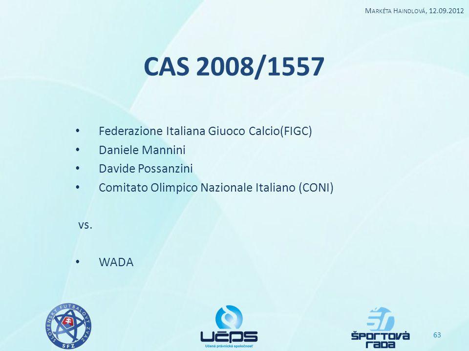 CAS 2008/1557 Federazione Italiana Giuoco Calcio(FIGC) Daniele Mannini