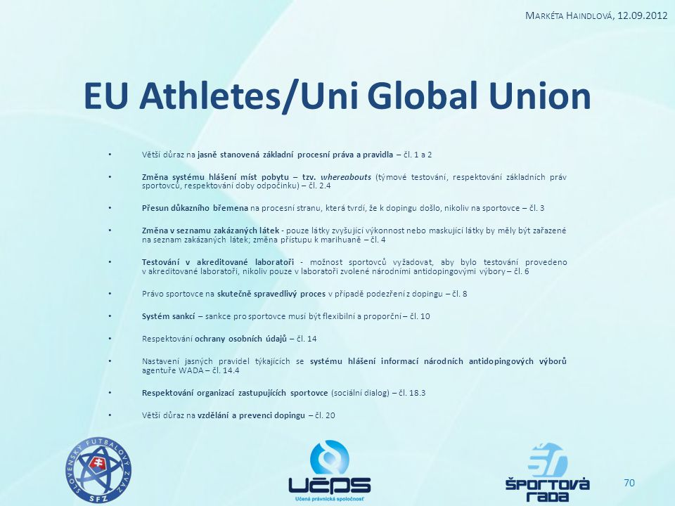 EU Athletes/Uni Global Union